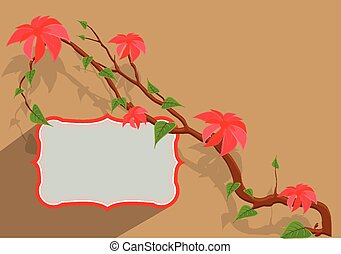 Flowers Branch Vector Banner