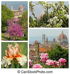 wonderful Florence in spring time - group of images from florent