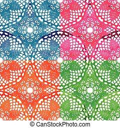 Lace seamless mesh pattern.