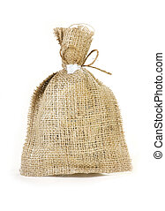 linen packet for different potion or dried herbage