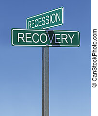 Recession Recovery Sign