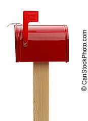 vermelho, fechado, Caixa postal,