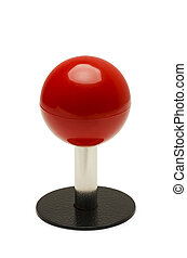 Red Joystick - Arcade Game Controler With Red Ball Top...