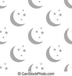 New Moon seamless pattern - New Moon white and black...
