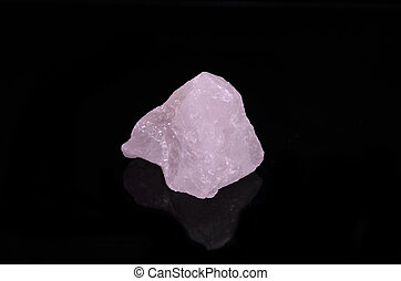 Rose Quartz on black background