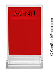 Red Table Menu - Table Top Upright Plastic Menu Sign...