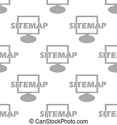 New Sitemap seamless pattern - New Sitemap white and black...