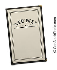 Restaurant Menu - Blank Generic Food Menu with Copy Space...
