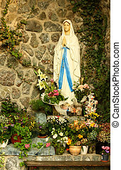 Virgin Mary grotto - A grotto of the blessed virgin Mary