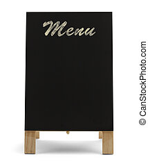 Restaurant Menu Sign - Black Stand Up Menu Chalk Board...
