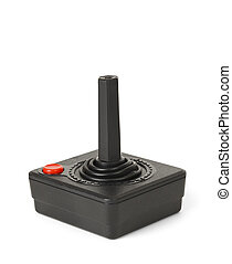 Retro Joystick - Old Black Joy Stick with Red Button...