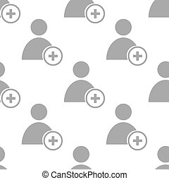 New Add user seamless pattern - New Add user white and black...