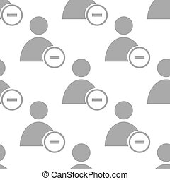 New Remove user seamless pattern - New Remove user white and...