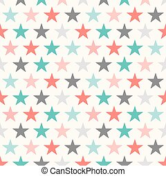 Retro colorful star seamless pattern. Vector illustration