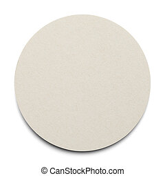 Round Coaster - Round Cardboard Coaster with Copy Space...