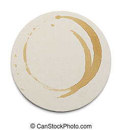 Round Dirty Coaster - Round Cardboard Coaster With Drink...