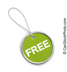 Round Green Free Tag
