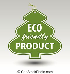 green eco friendly product tree tag label with string eyelet