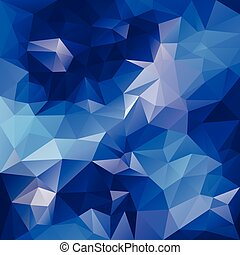 vector polygonal background pattern - triangular design in blue colors - water, ice, sky