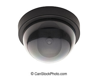 Round Security Camera - Bubble Black Ceiling Surveillance...