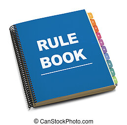 Rule Book - Large Spiral Bound Bule Rule Book with Tabs...