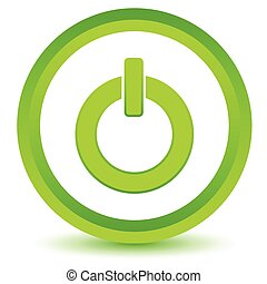 Green power icon on a white background. Vector illustration