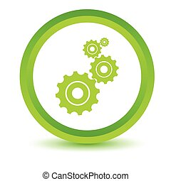 Green mechanism icon