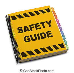 Safety Guide - Yellow Spiral Safety Guide Book Isolated on...