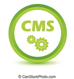 Green cms icon on a white background. Vector illustration