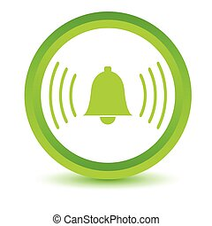 Green alarmclock icon on a white background. Vector...