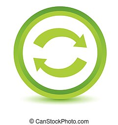 Green synchronization icon on a white background Vector...