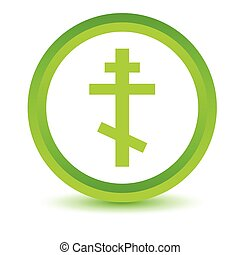 Green Orthodoxy icon on a white background Vector...