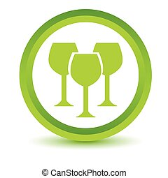 Green Stemware icon on a white background Vector...
