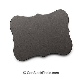 Slate Tag - Black Slate Tag with Copy Space Isolated on...