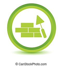 Green Building icon on a white background Vector...