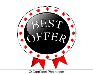 Best offer with ribbon