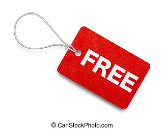 Small Red Free Tag