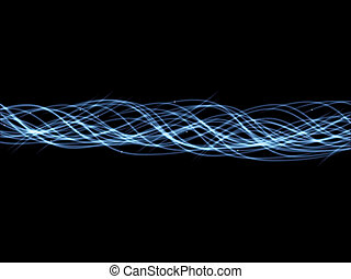 Fiber Optics - Illustration of illuminated fiber optic...