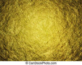 Gold Background - Illustration of a large gold nugget -...