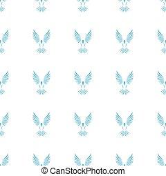 Unique Bird seamless pattern