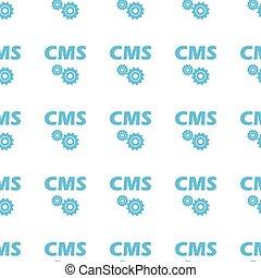 Unique Cms seamless pattern - Unique Cms white and blue...