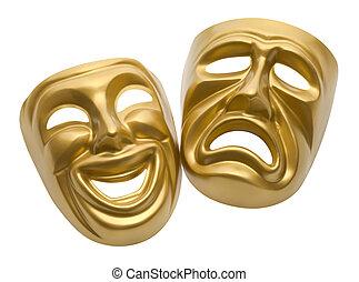 teatro, máscaras,