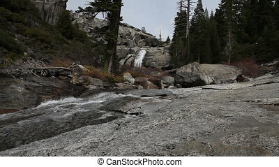 Waterfall And Stream Yosemite - Waterfall And Stream Top Of...