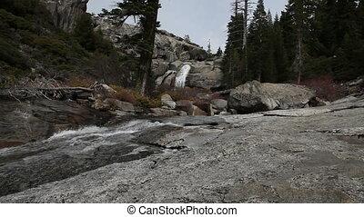 Waterfall And Stream Yosemite - Waterfall And Stream Top Of...