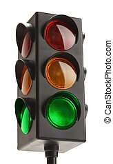 Traffic Light - Stop Light With Green Go Signal Isolated on...