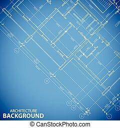 Unique building plan background