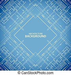 Blueprint building structure background