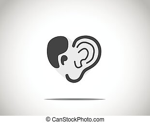 abstract concept illustration of hearing aid illustration...