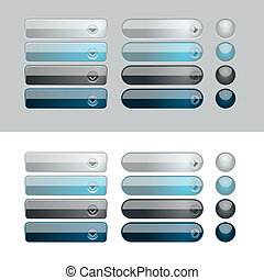 Web Glossy Button Set