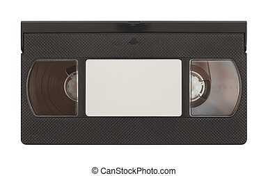 VHS Tape - Old VHS Video Tape with Copy Space Isolated on...